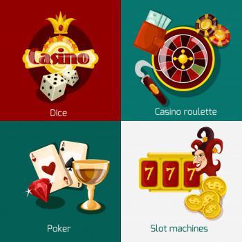 eri värisiä kasinoaiheisia kuvia